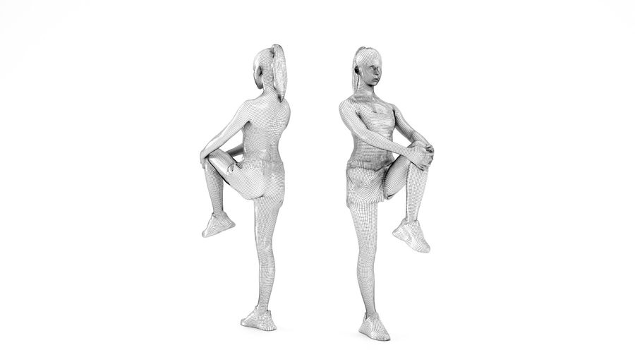 Сексуальная спортивная женщина 24 royalty-free 3d model - Preview no. 6