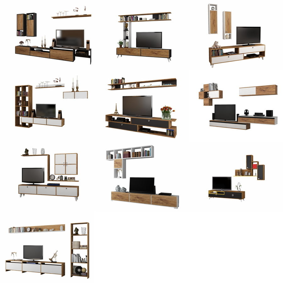 Armoires de télévision royalty-free 3d model - Preview no. 1