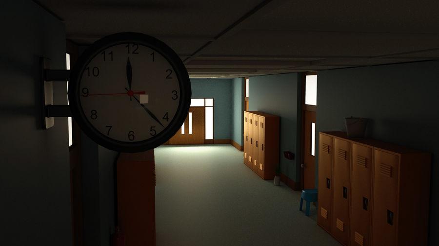 Corridoio della scuola royalty-free 3d model - Preview no. 11