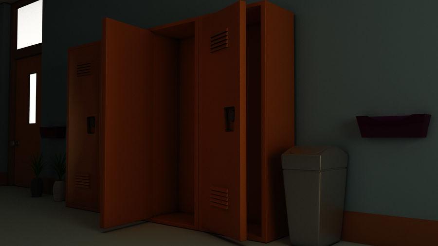 Corridoio della scuola royalty-free 3d model - Preview no. 23