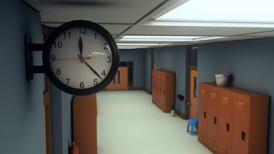 Corridoio della scuola royalty-free 3d model - Preview no. 12