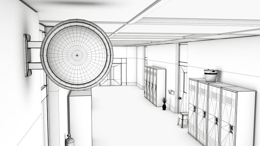 Corridoio della scuola royalty-free 3d model - Preview no. 13