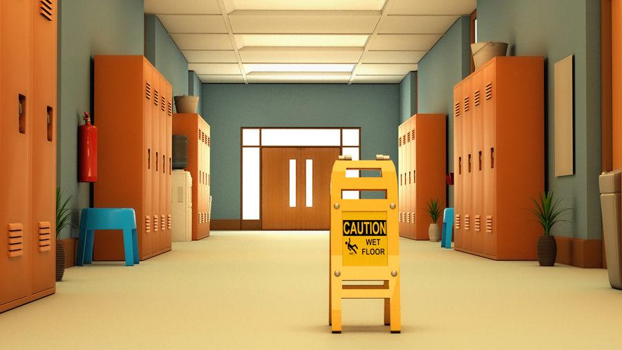 Corridoio della scuola royalty-free 3d model - Preview no. 6