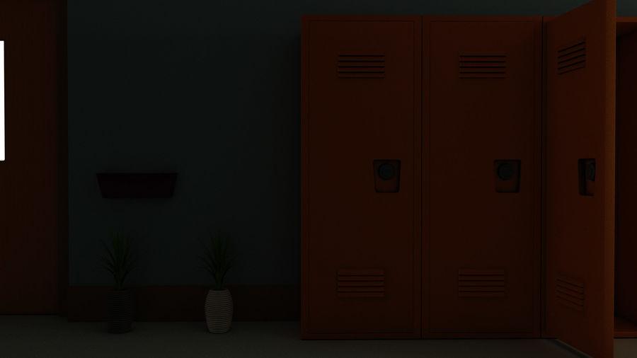 Corridoio della scuola royalty-free 3d model - Preview no. 27