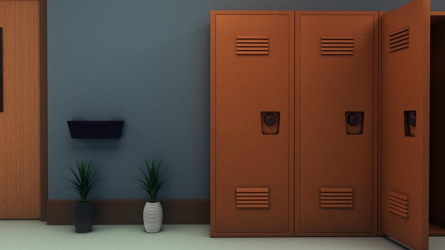 Corridoio della scuola royalty-free 3d model - Preview no. 28