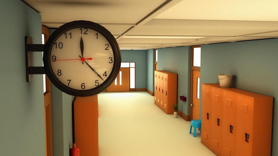 Corridoio della scuola royalty-free 3d model - Preview no. 10