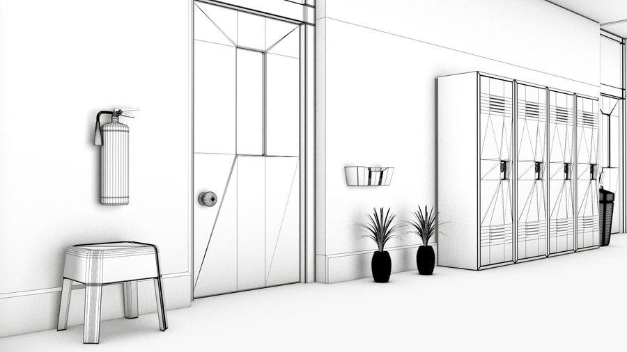 Corridoio della scuola royalty-free 3d model - Preview no. 17