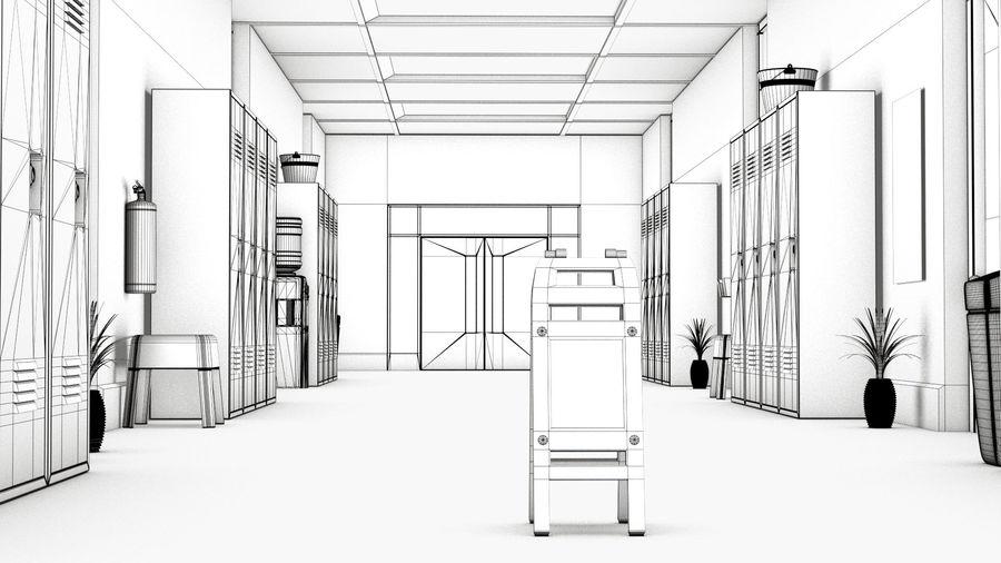 Corridoio della scuola royalty-free 3d model - Preview no. 9