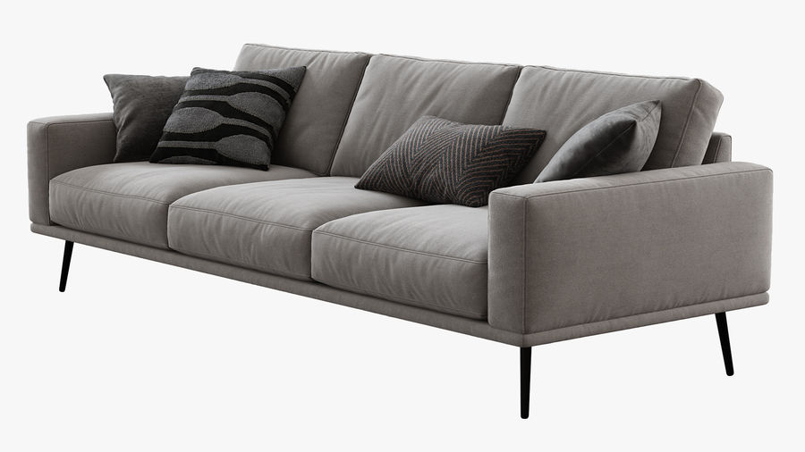 Sofá BoConcept Carlton royalty-free 3d model - Preview no. 3