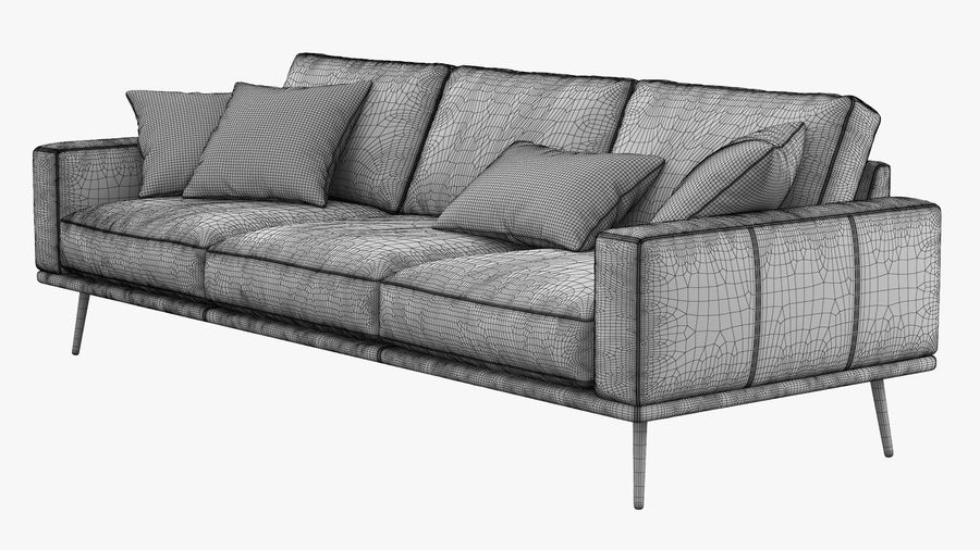 BoConceptカールトンソファ royalty-free 3d model - Preview no. 8