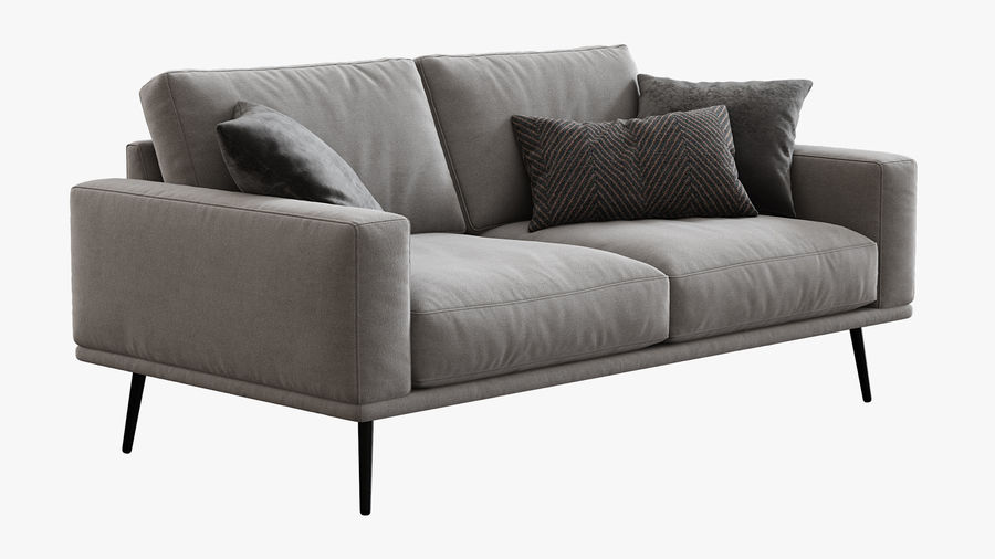 Sofá BoConcept Carlton royalty-free 3d model - Preview no. 6