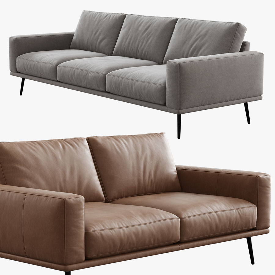 Sofá BoConcept Carlton royalty-free 3d model - Preview no. 7