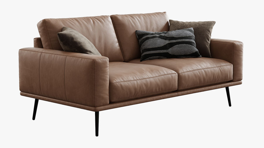 Sofá BoConcept Carlton royalty-free 3d model - Preview no. 5