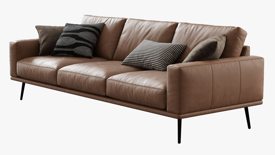 Sofá BoConcept Carlton royalty-free 3d model - Preview no. 2