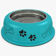 Dog Bowl with Water 3d model