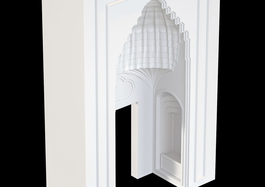 muqarnas ver 4 royalty-free modelo 3d - Preview no. 2