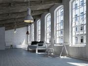 Loft intérieur scène 3 3d model