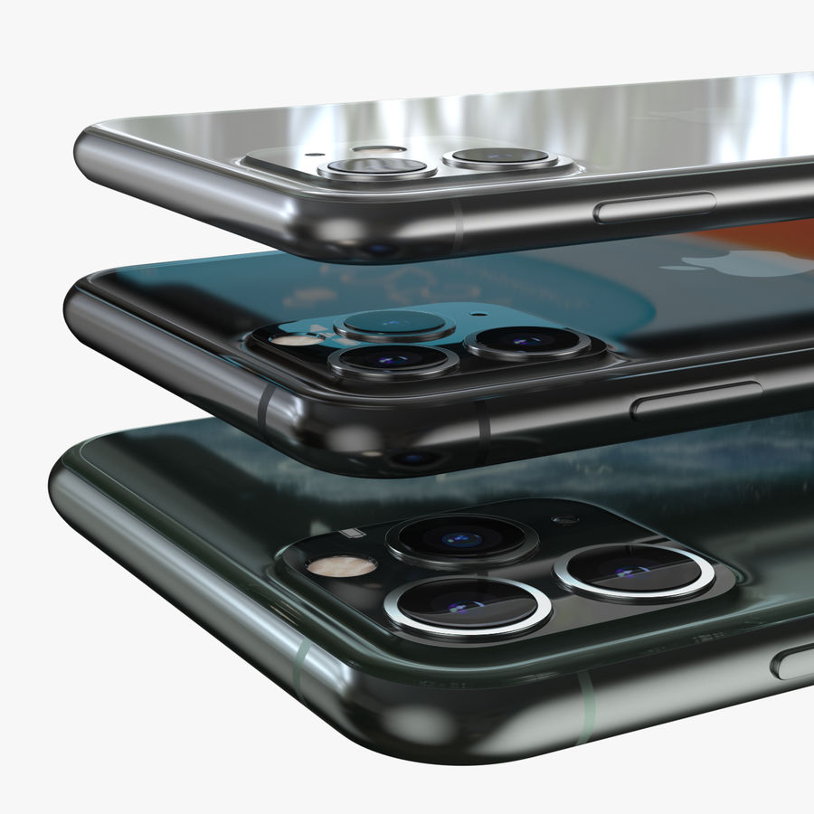 Iphone 11, Iphone 11 Pro, Iphone 11 Pro Max royalty-free 3d model - Preview no. 4