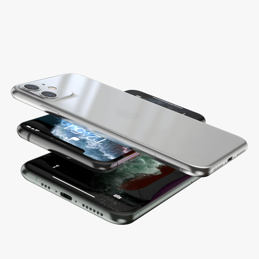 Iphone 11, Iphone 11 Pro, Iphone 11 Pro Max royalty-free 3d model - Preview no. 7