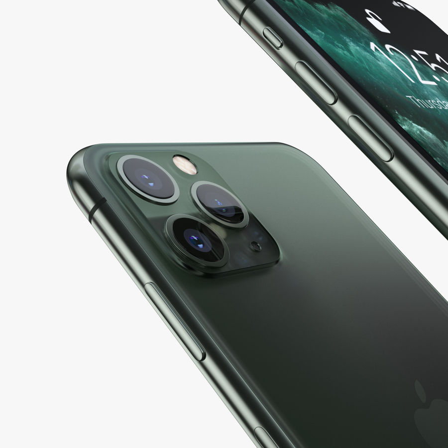 Iphone 11, Iphone 11 Pro, Iphone 11 Pro Max royalty-free 3d model - Preview no. 9