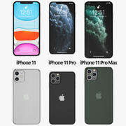 Iphone 11, Iphone 11 Pro, Iphone 11 Pro Max 3d model