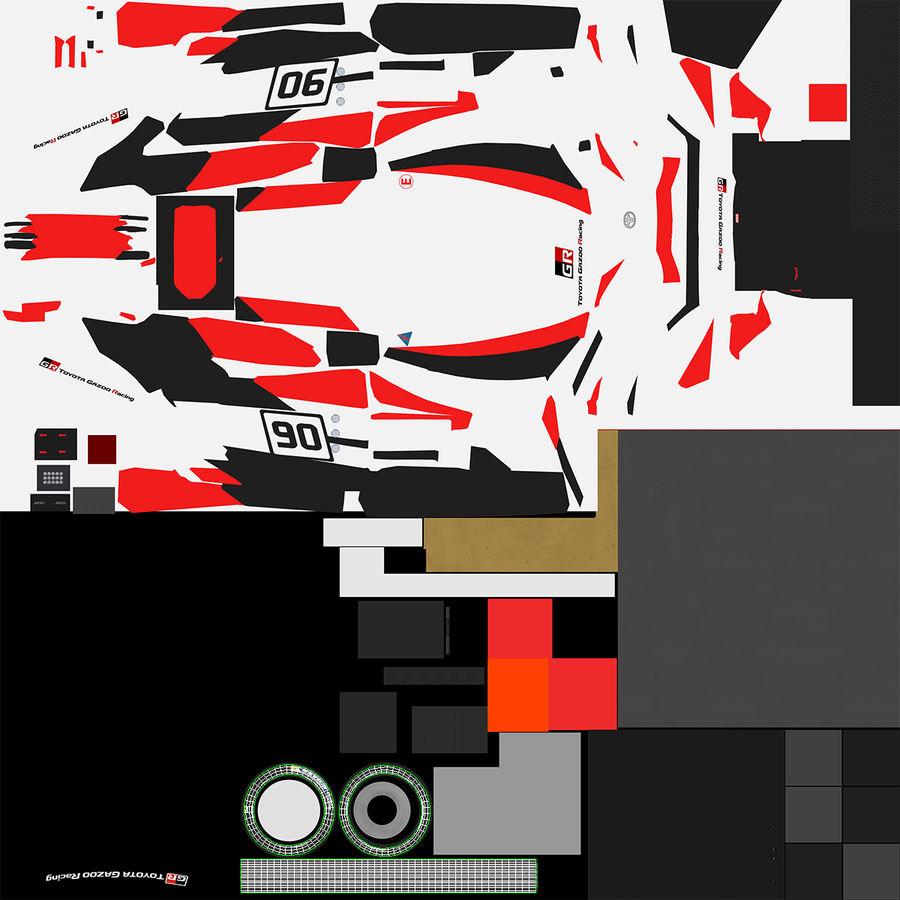 トヨタレーシングホイール royalty-free 3d model - Preview no. 10