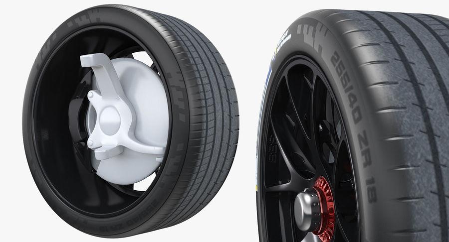 トヨタレーシングホイール royalty-free 3d model - Preview no. 4