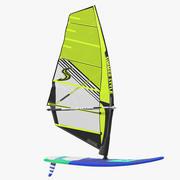 Windsurf Board And Sail 3d model