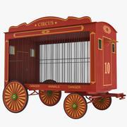 Modelo 3D de vagão de circo 3d model