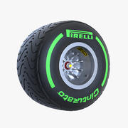 중간 녹색 3d model