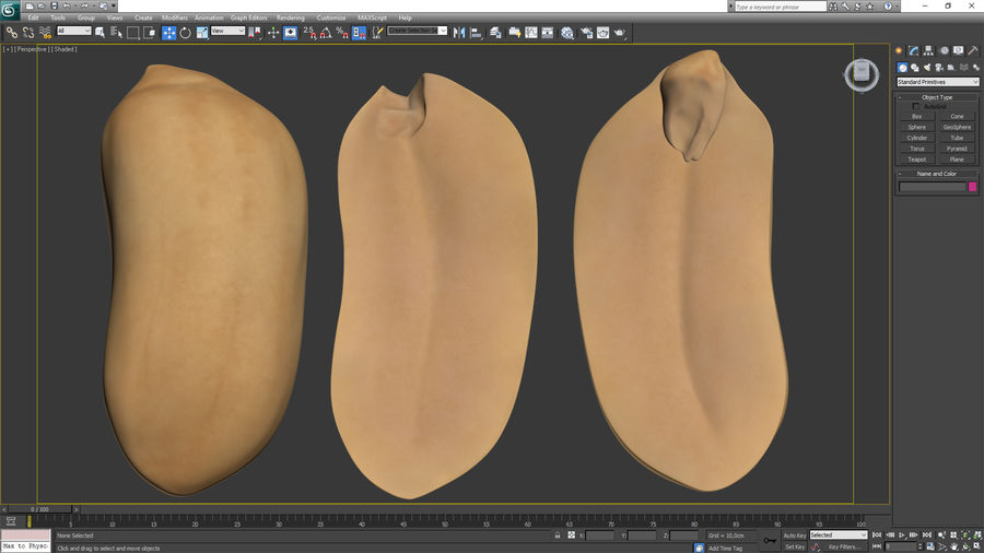 Peanut Seeds Peeled royalty-free 3d model - Preview no. 23