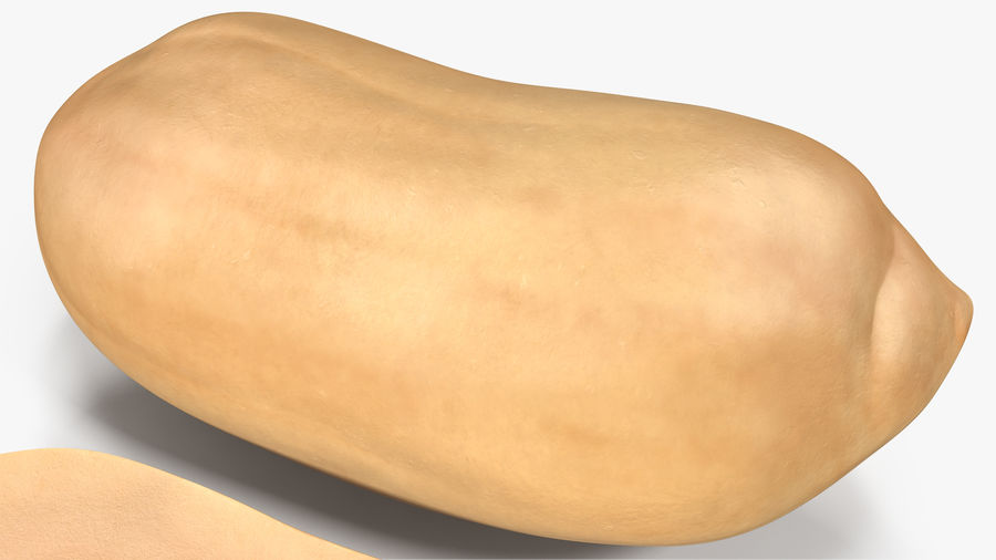 Peanut Seeds Peeled royalty-free 3d model - Preview no. 12