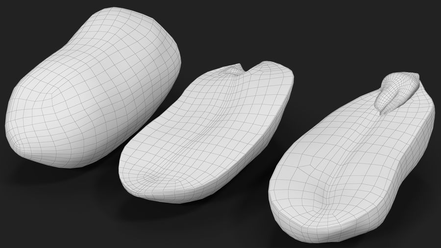 Peanut Seeds Peeled royalty-free 3d model - Preview no. 24