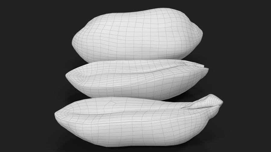 Peanut Seeds Peeled royalty-free 3d model - Preview no. 39