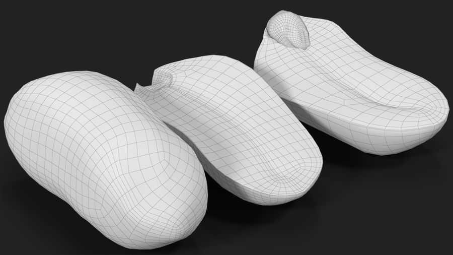 Peanut Seeds Peeled royalty-free 3d model - Preview no. 25