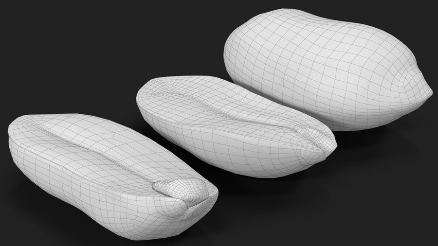 Peanut Seeds Peeled royalty-free 3d model - Preview no. 27