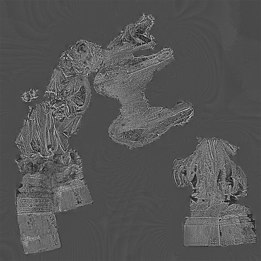 Statua anioła royalty-free 3d model - Preview no. 75