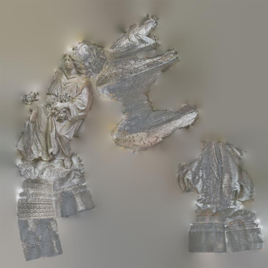 Statua anioła royalty-free 3d model - Preview no. 72