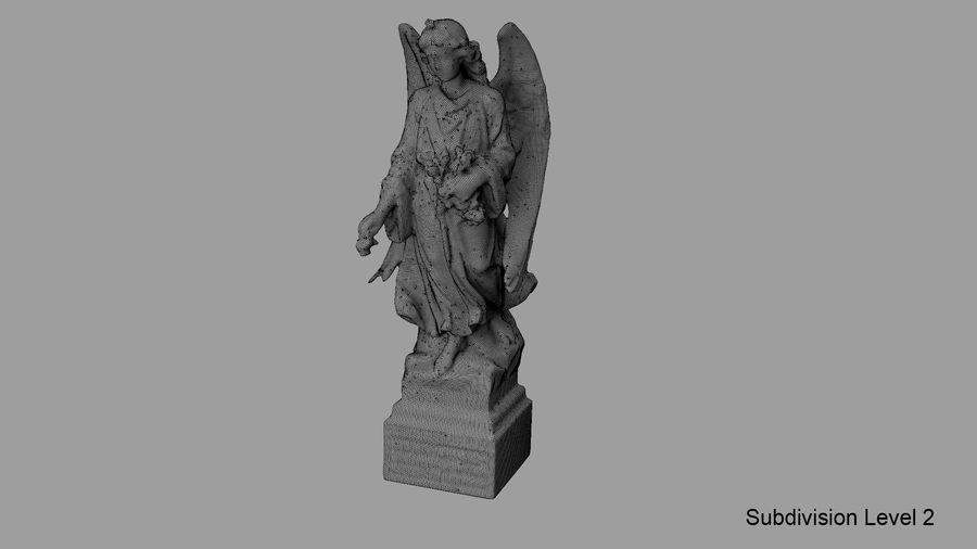 Statua anioła royalty-free 3d model - Preview no. 71