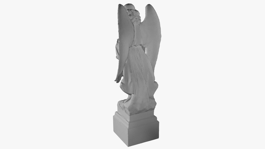 Statua anioła royalty-free 3d model - Preview no. 46