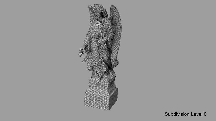 Statua anioła royalty-free 3d model - Preview no. 69