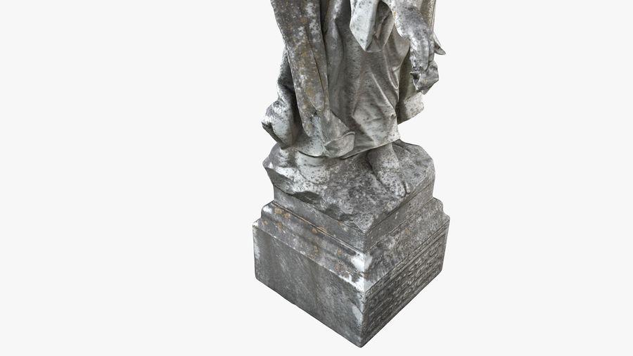 Statua anioła royalty-free 3d model - Preview no. 16