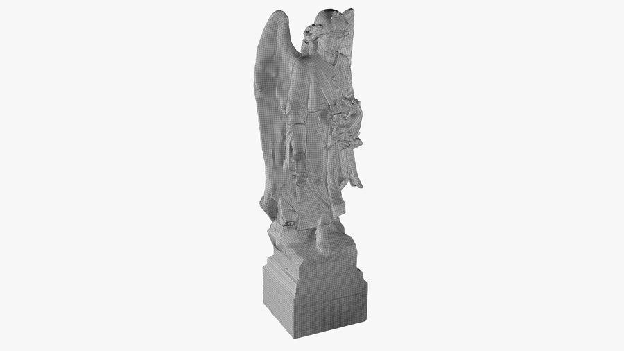 Statua anioła royalty-free 3d model - Preview no. 48