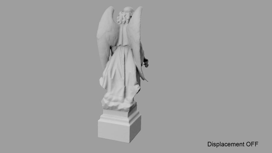 Statua anioła royalty-free 3d model - Preview no. 68