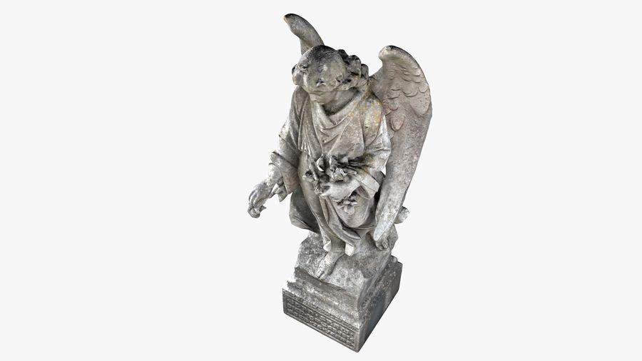 Statua anioła royalty-free 3d model - Preview no. 17