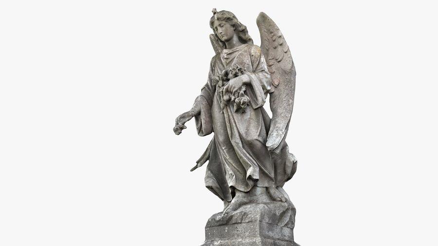 Statua anioła royalty-free 3d model - Preview no. 20