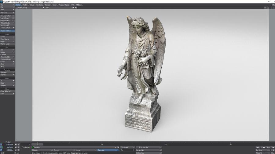 Statua anioła royalty-free 3d model - Preview no. 23