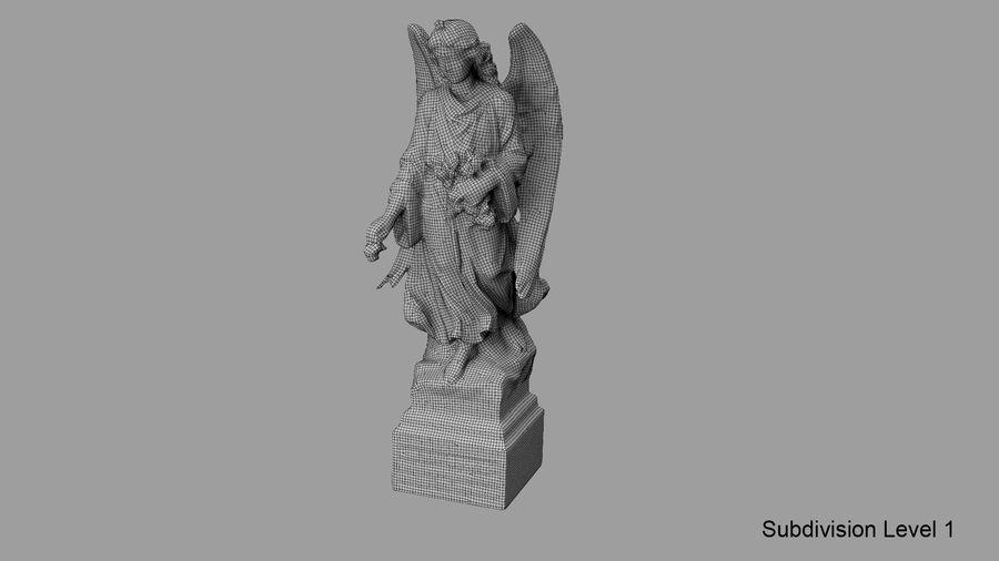 Statua anioła royalty-free 3d model - Preview no. 70