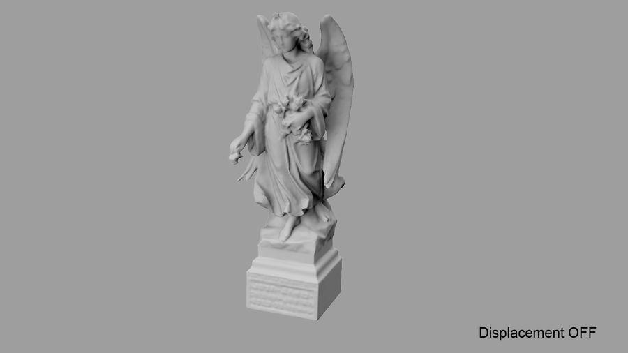Statua anioła royalty-free 3d model - Preview no. 66