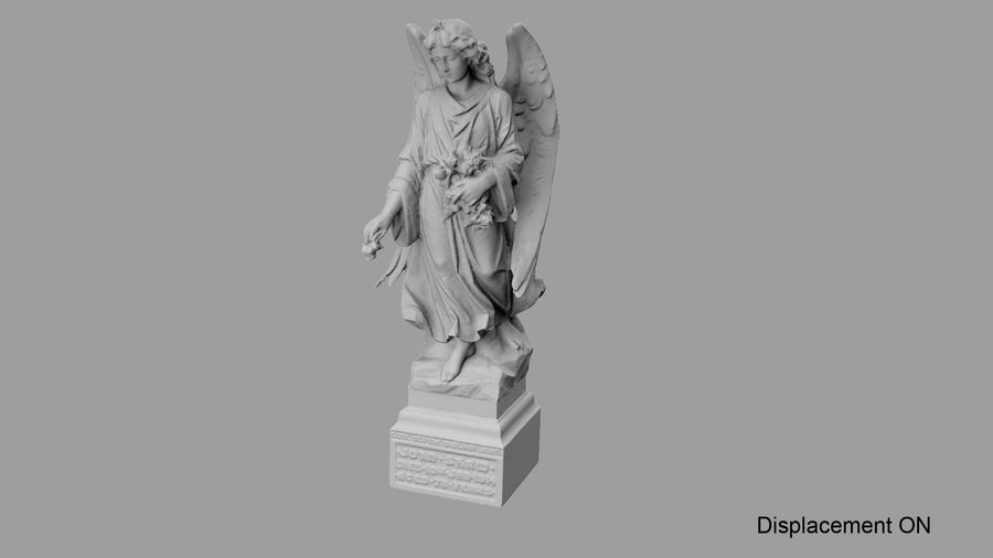 Statua anioła royalty-free 3d model - Preview no. 65